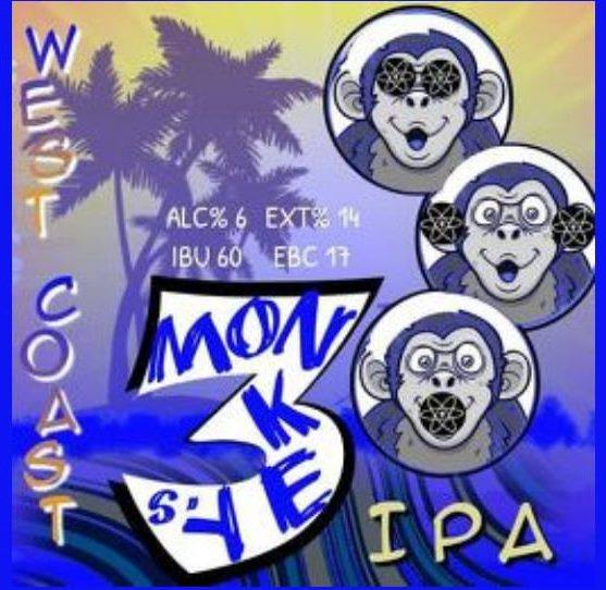 3 Monkeys West Coast IPA